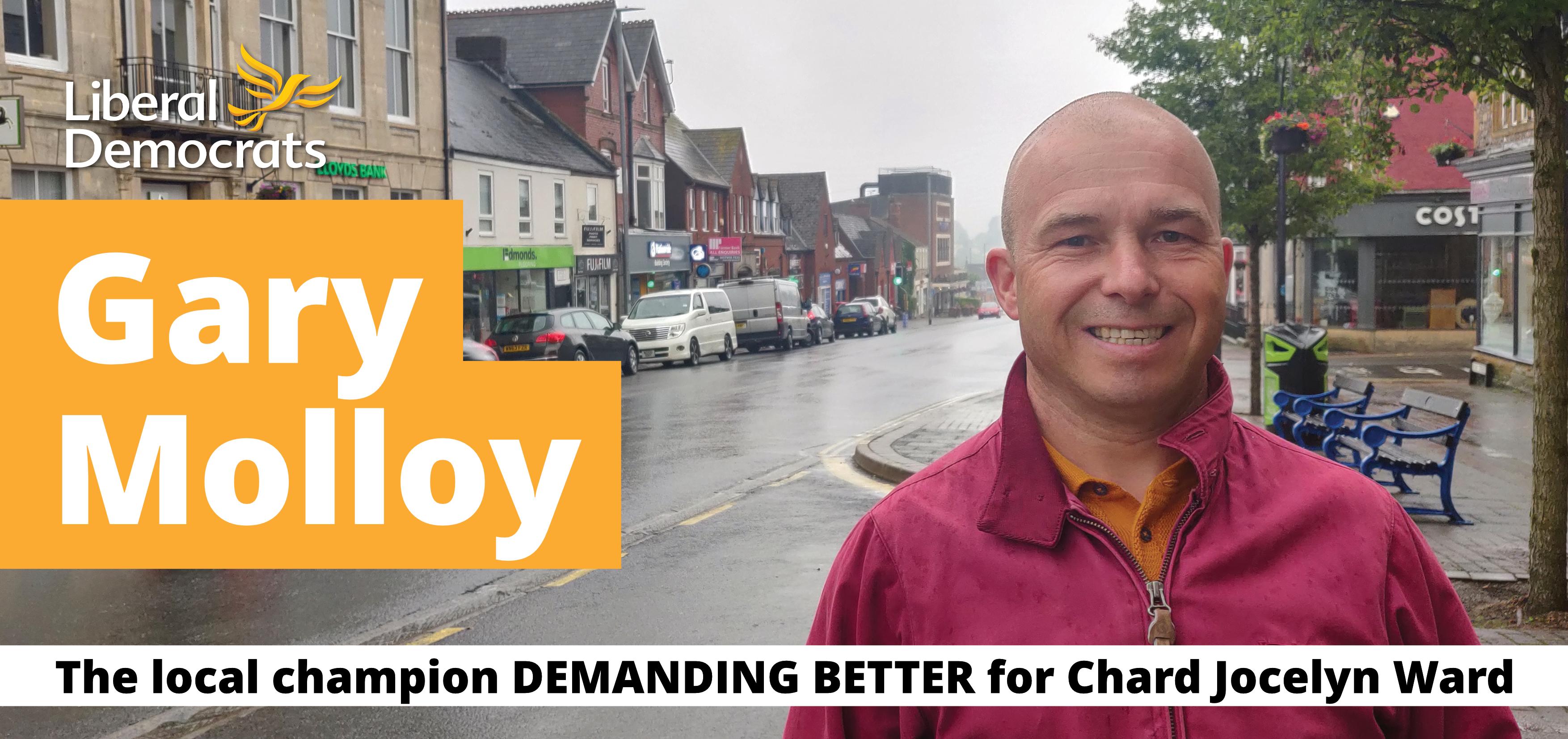 Gary Molloy - The Local champion demanding better for Chard Jocelyn Ward