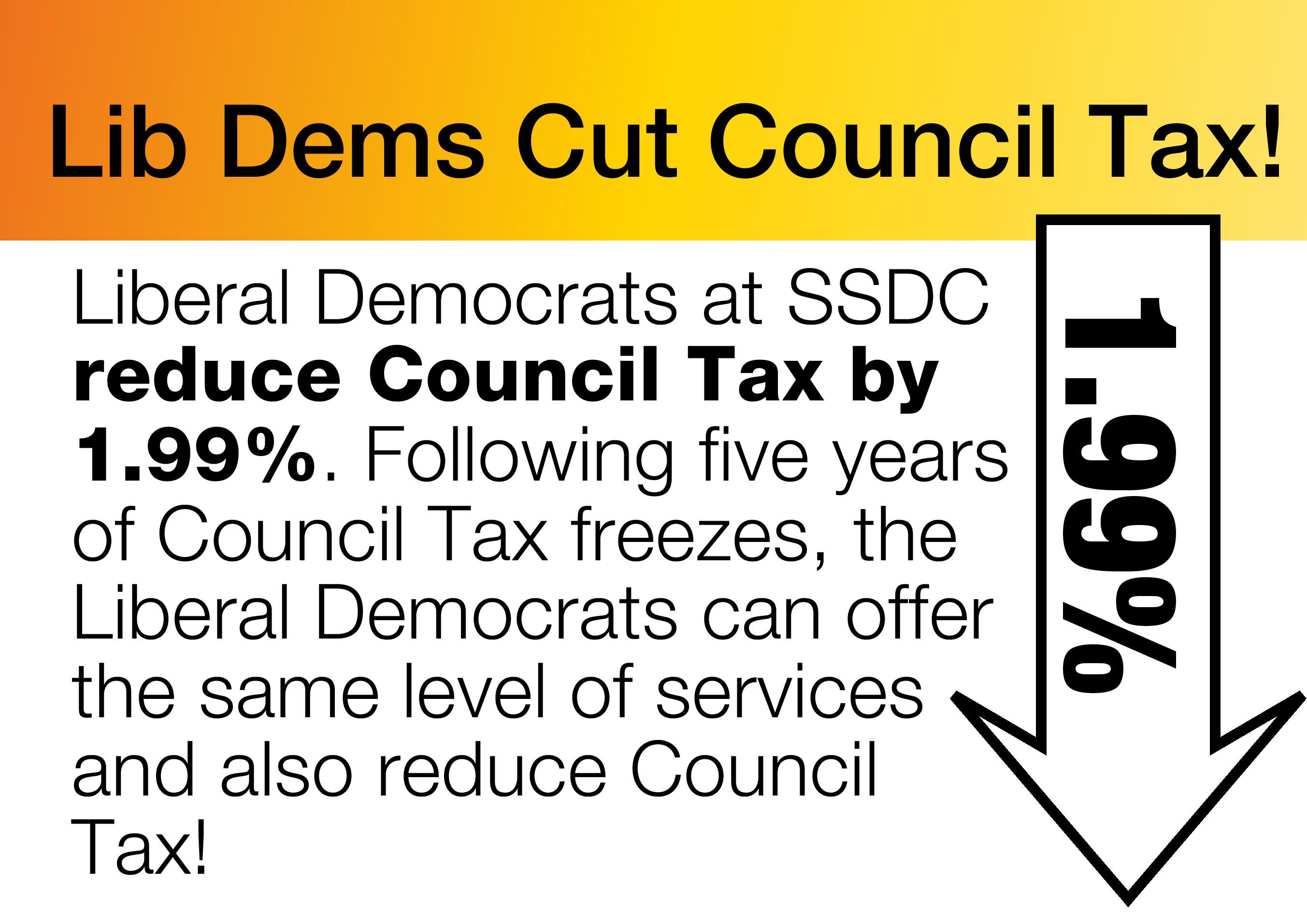 Council Tax cut for South Somerset residents