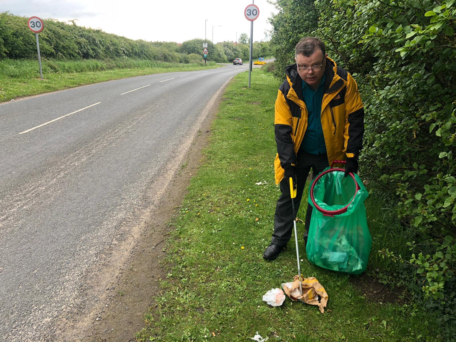 Andrew Waller Keeping Westfield tidy!