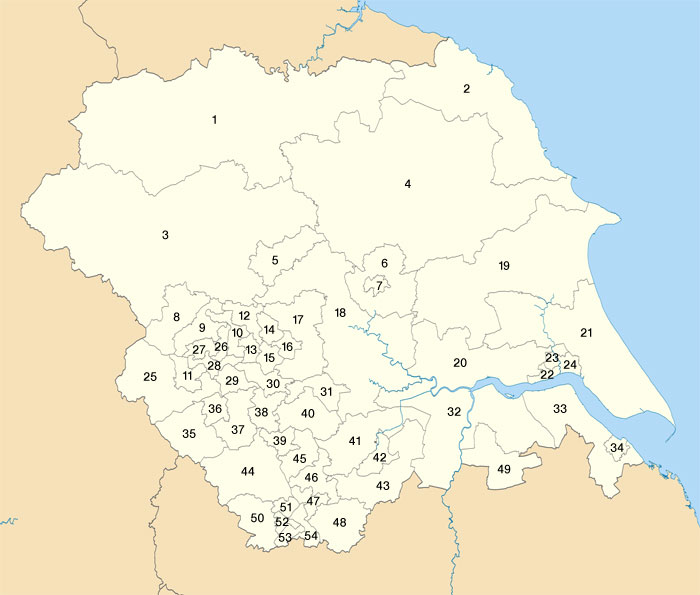 Yorkshire & Humber Constituencies