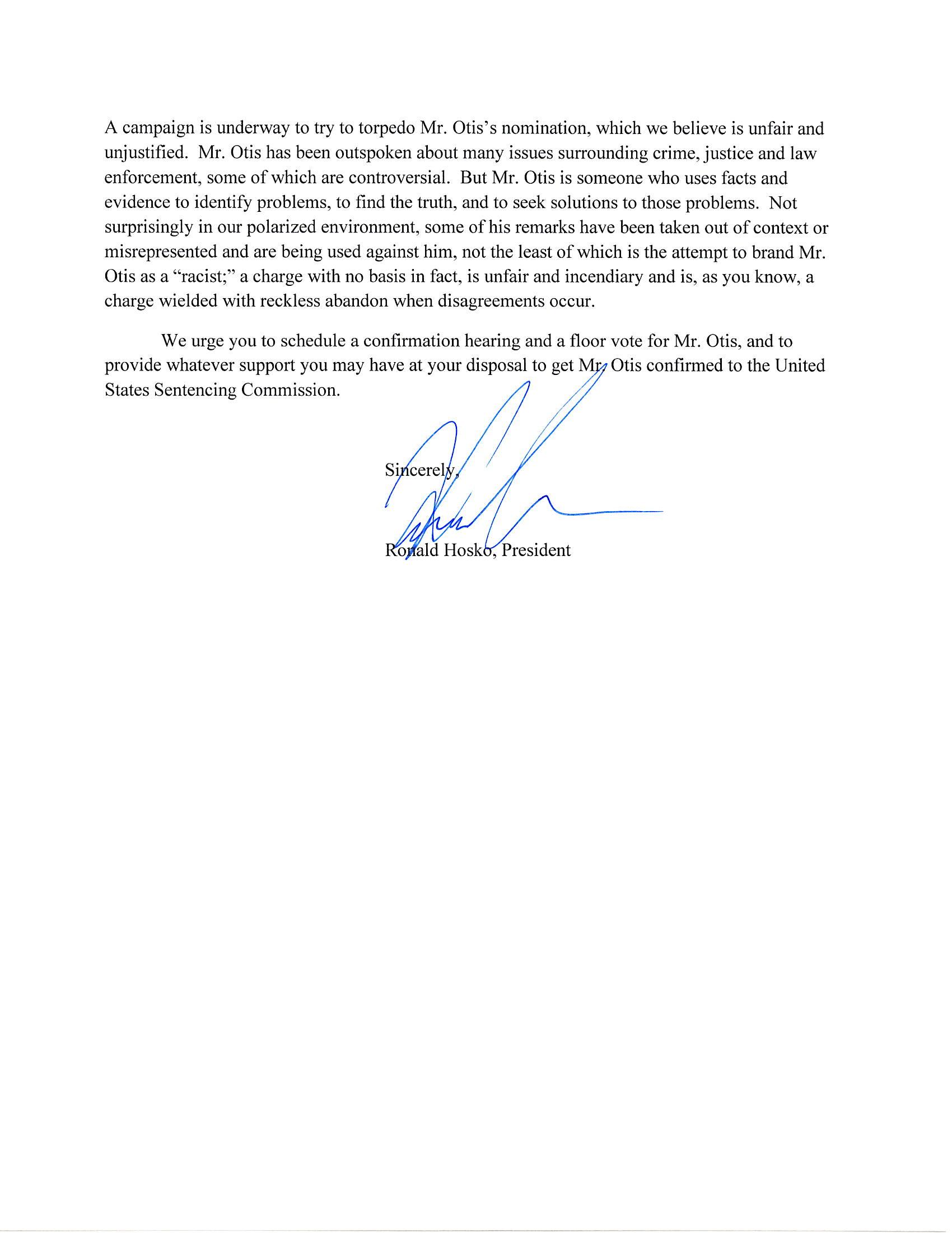 Chuck Schumer Letter