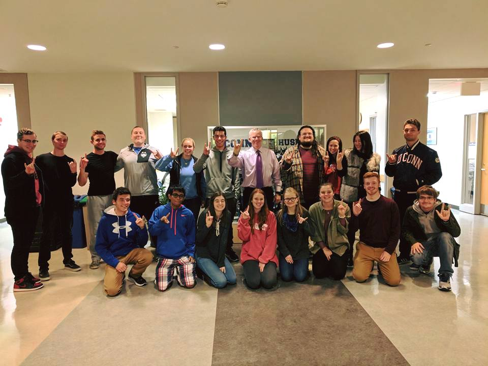 Sean Connolly visits the UConn College Democrats