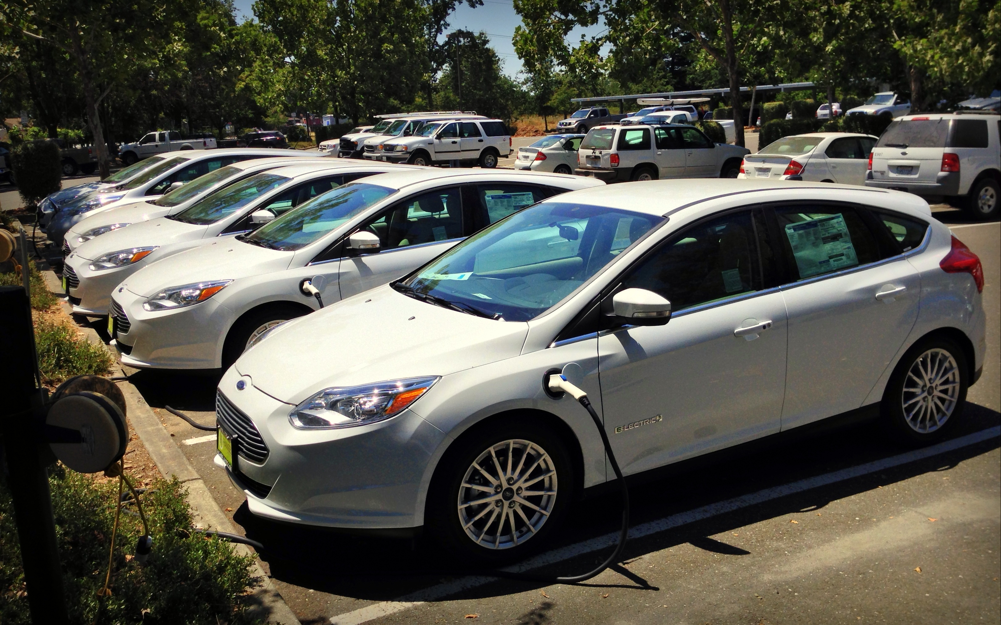 Low energy cars at the Sonoma County Water Agency.