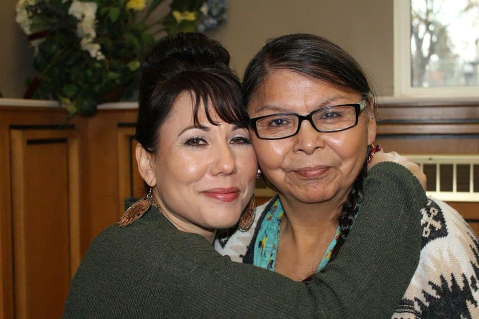 Leah Gazan and Gramma Shingoose, photo by Viv Ketchum