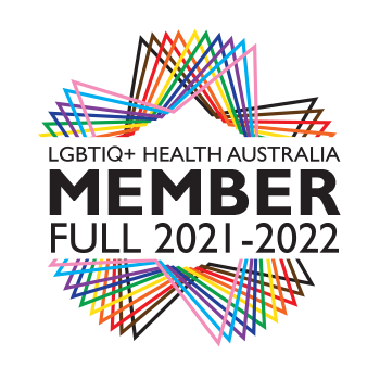 """This website is run by a member of LGBTIQ+ Health Australia, click to verify"""", and the logo must also link to our member directory: https://www.lgbtiqhealth.org.au/member_directory"""
