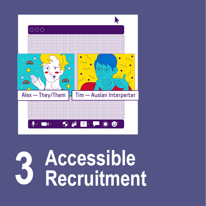 Accessible Recruitment - Two people on Zoom using captions.