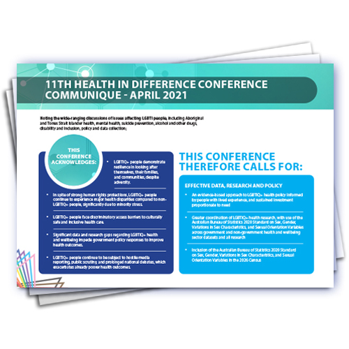 Cover from the HID Conference Communique