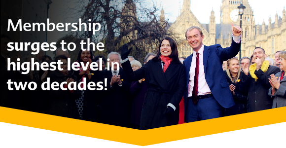 Lib Dem Membership is at the highest level in decades - now at 82,000 and climbing!
