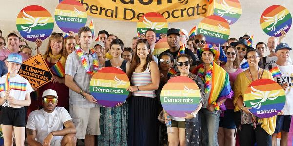 Lib Dem Campaigners at London Pride