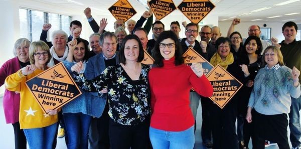 Layla Moran with campaigners