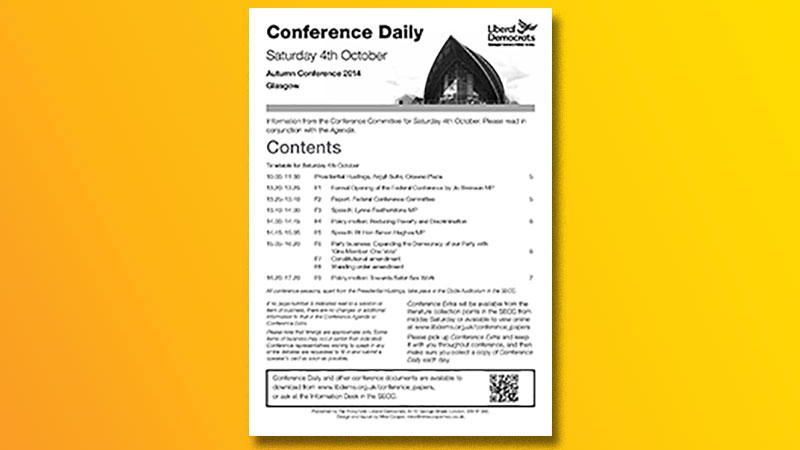 Conference Report, Extra and Dailies