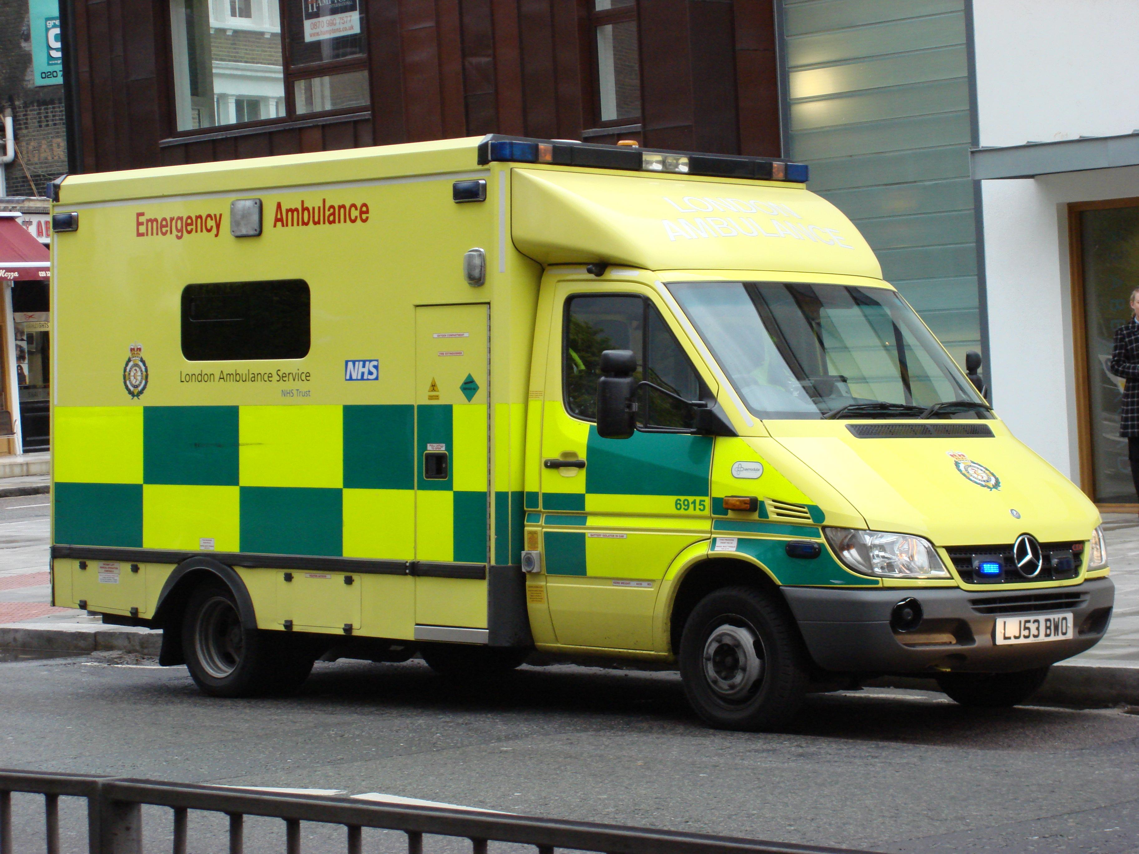 Ambulance at Abbey Road