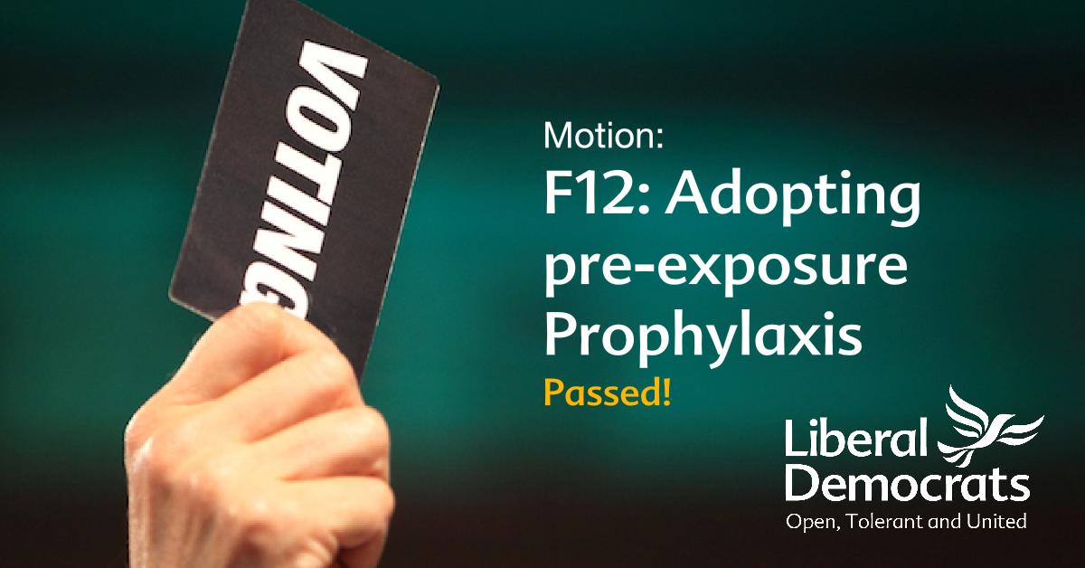 F12: Adopting pre-exposure Prophylaxis