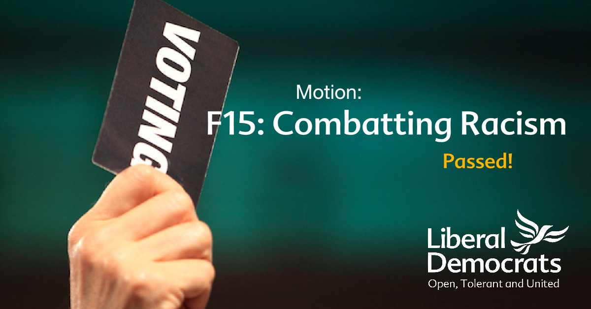 F15: Combatting Racism