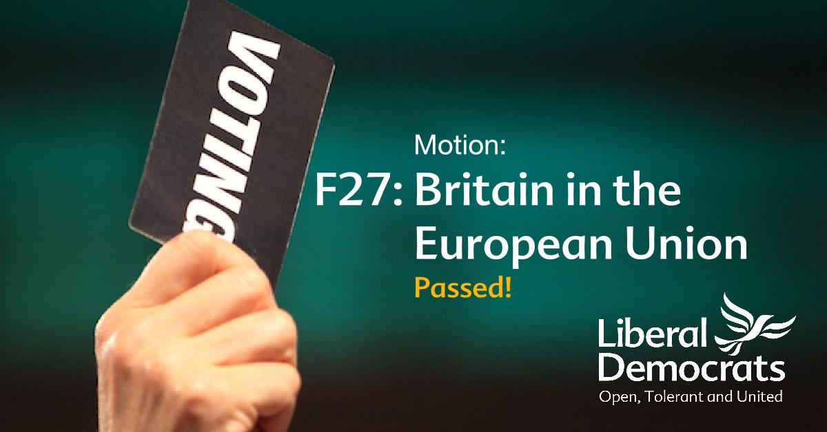 F27: Britain in the European Union