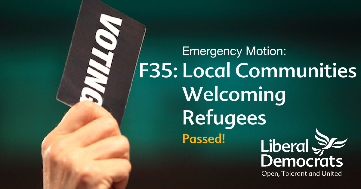 F35	Emergency motion: Local Communities Welcoming Refugees