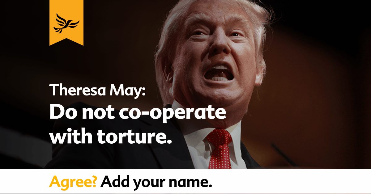 Theresa May: do not co-operate with torture