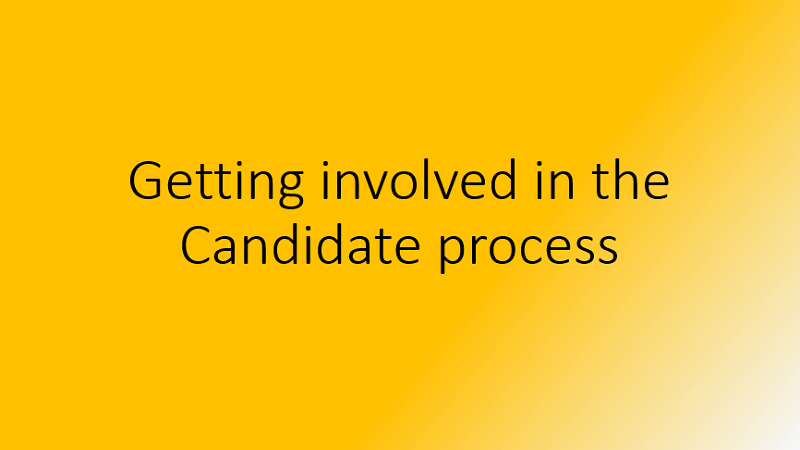 Getting Involved in the Candidates Process