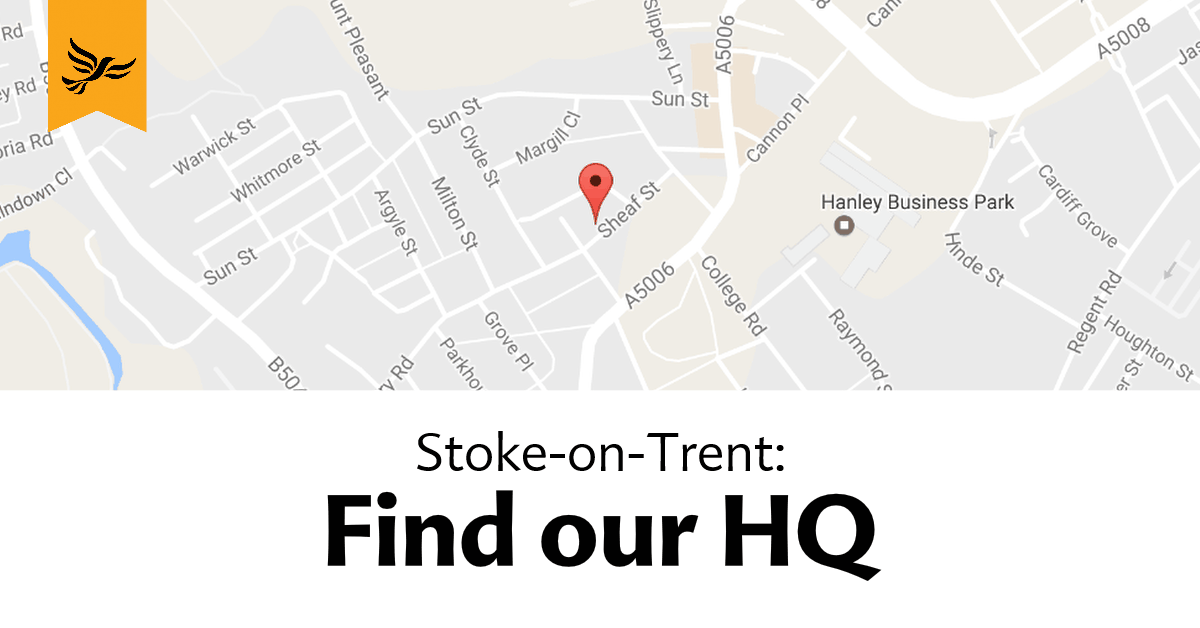 Find our HQ - Stoke
