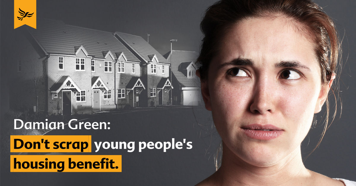 Damian Green: Don't scrap young people's housing benefit