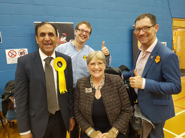 Sal at the count in Stoke-on-Trent