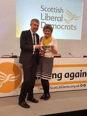 Elaine Ford getting her award