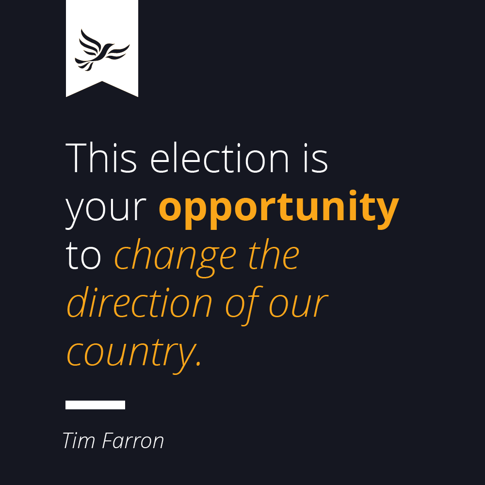 This election is your opportunity to change the direction of our country