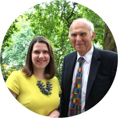 Vince Cable and Jo Swinson, the new Leader and Deputy Leader of the Liberal Democrats