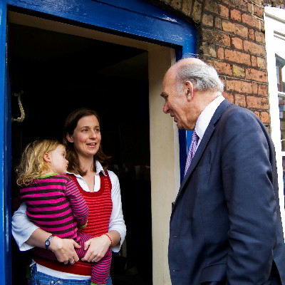 Vince knocking on doors in Twickenham
