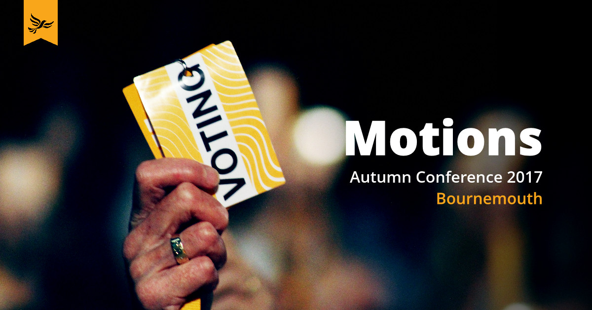 Passed Motions - Autumn Conference 2017