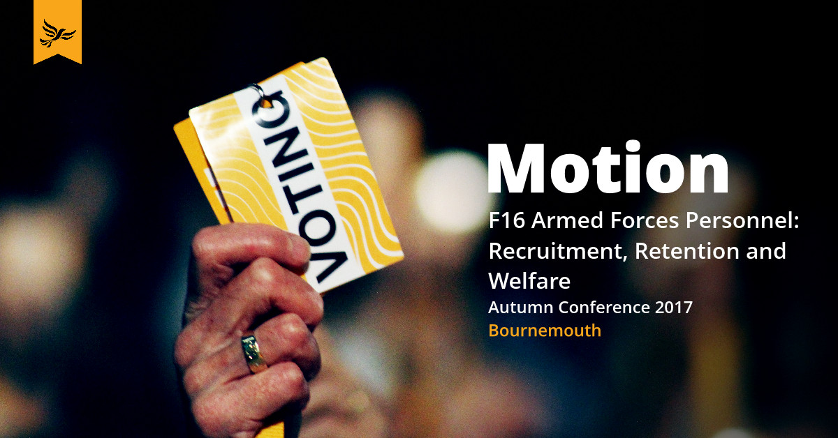 F16: Armed Forces Personnel: Recruitment, Retention and Welfare