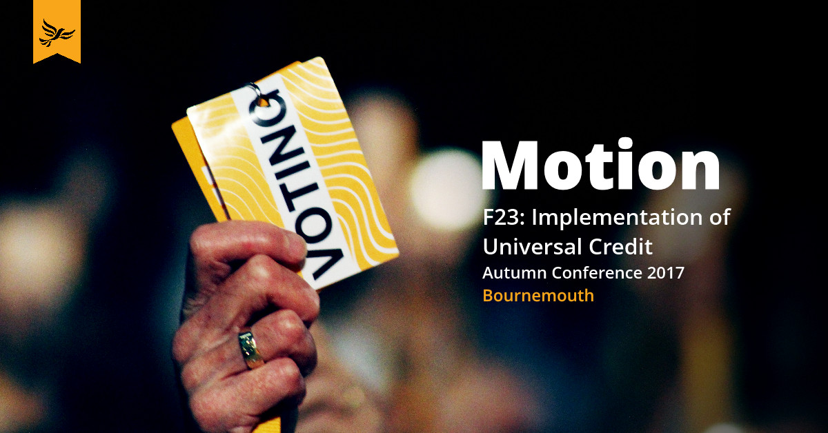 F23: Implementation of Universal Credit