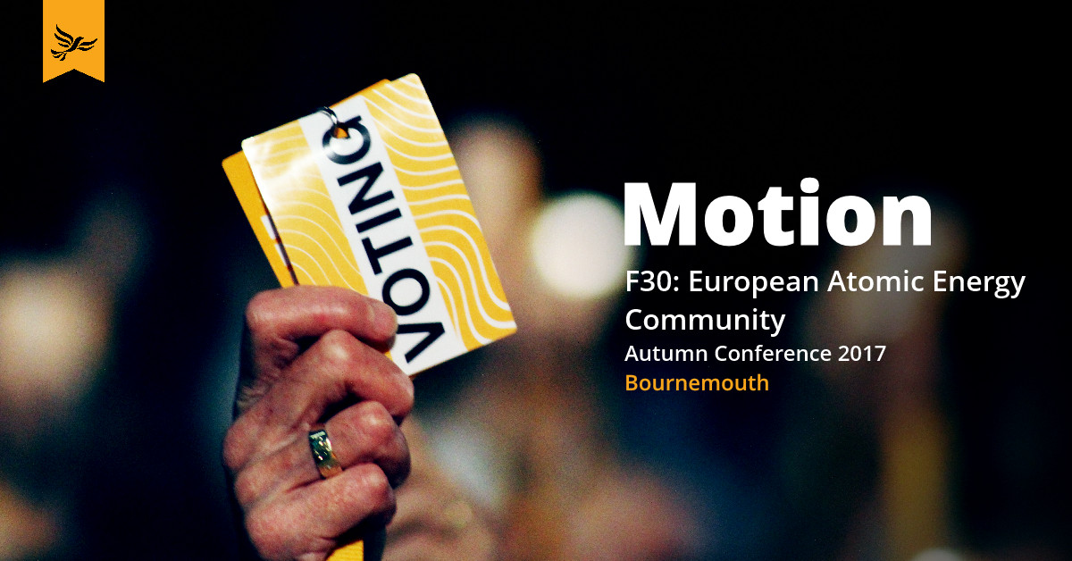F30: European Atomic Energy Community