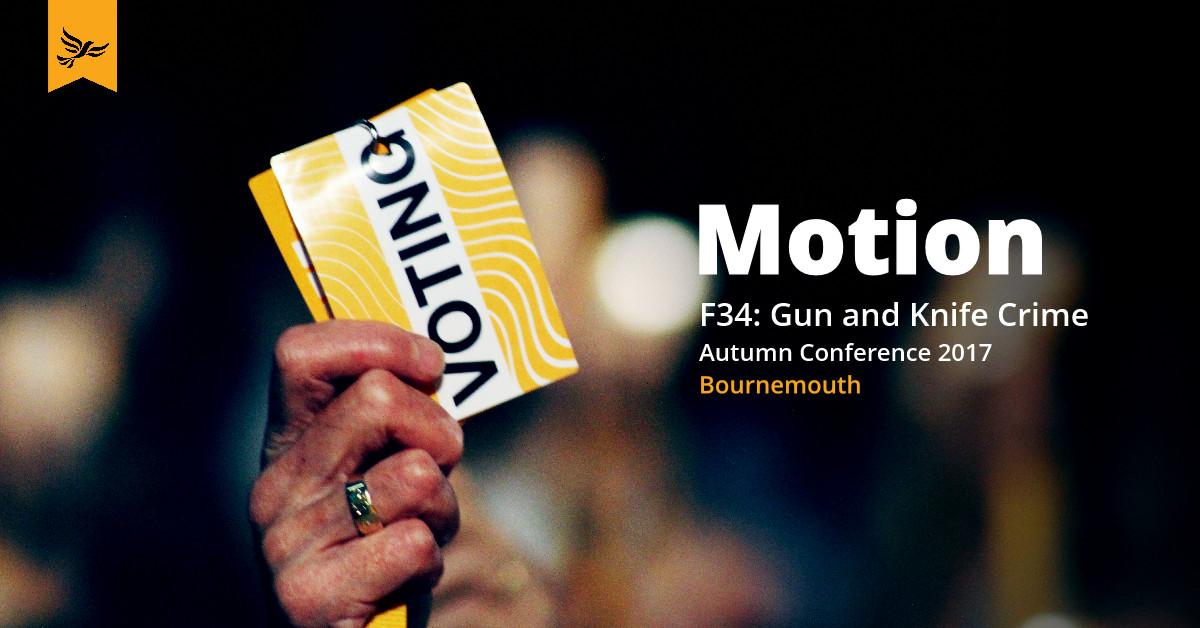 F34: Gun and Knife Crime