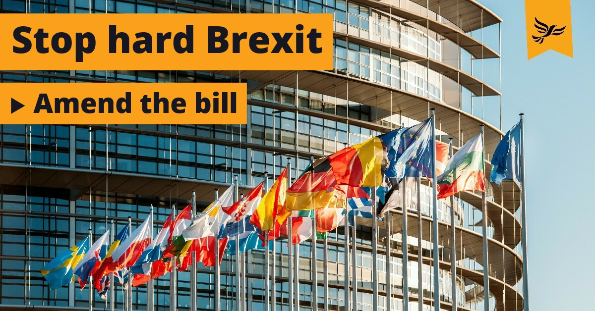 Stop hard Brexit - amend the bill