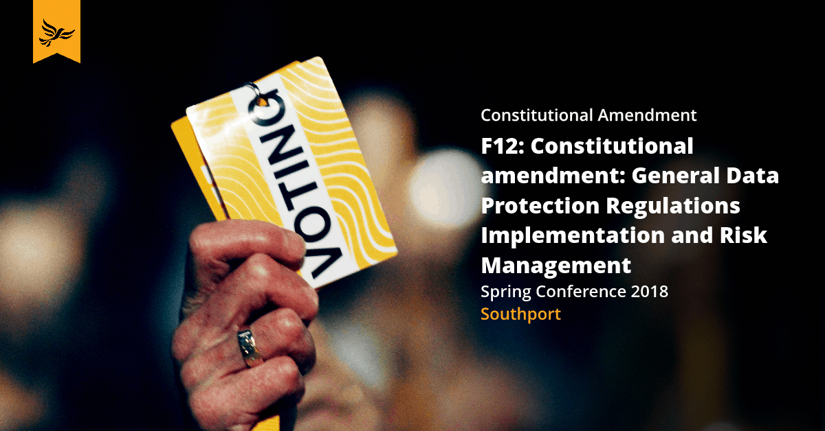 F12: Constitutional amendment: General Data Protection Regulations Implementation and Risk Management