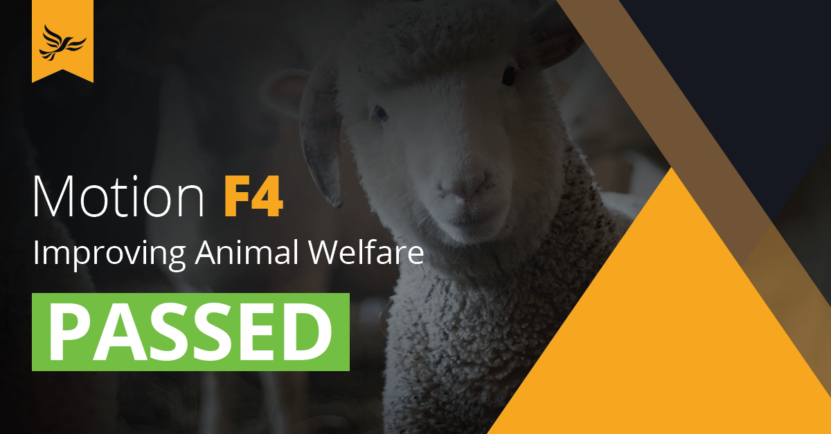 F4: Improving Animal Welfare
