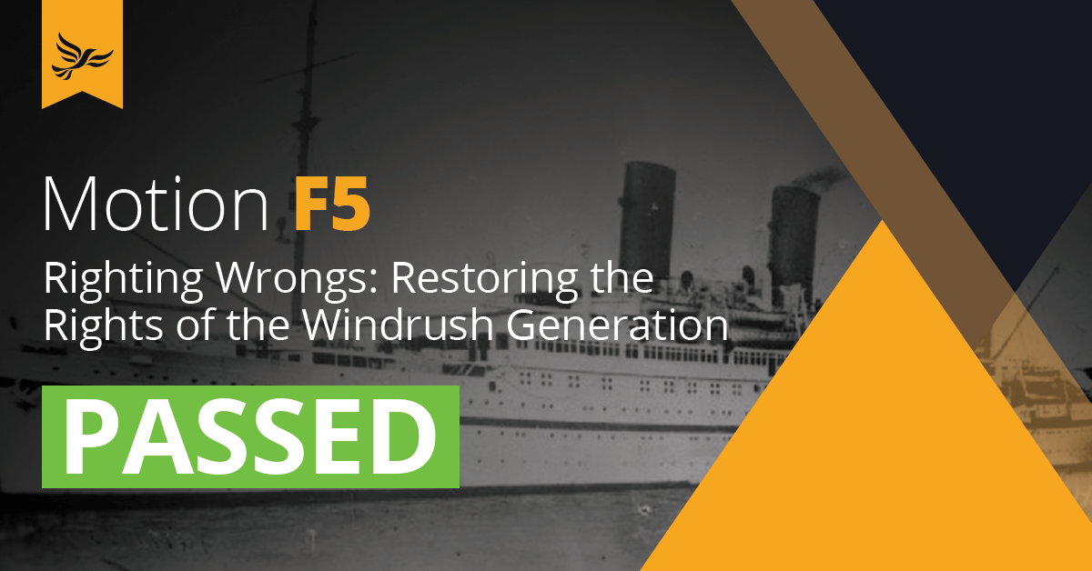 F5	Righting Wrongs: Restoring the Rights of the Windrush Generation