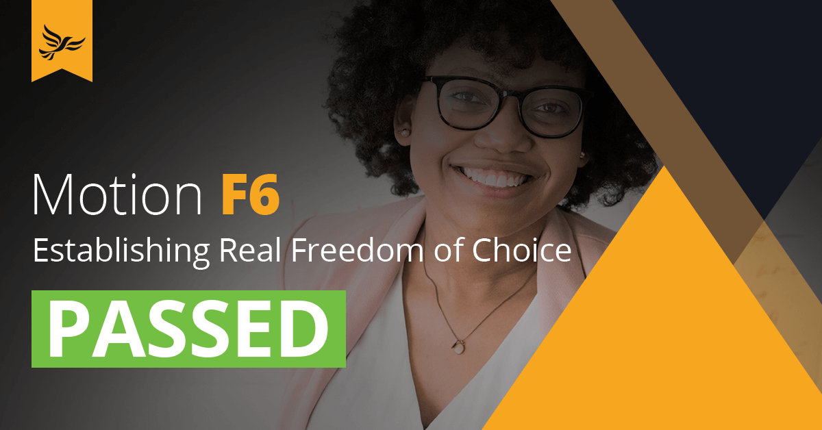 F6: Establishing Real Freedom of Choice