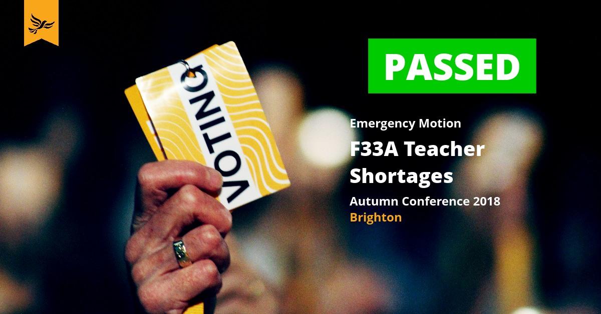 F33A - Teacher Shortages