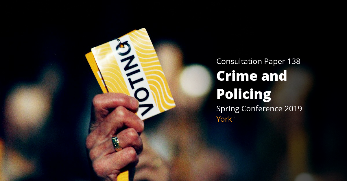 Crime and Policing (consultation paper 138)