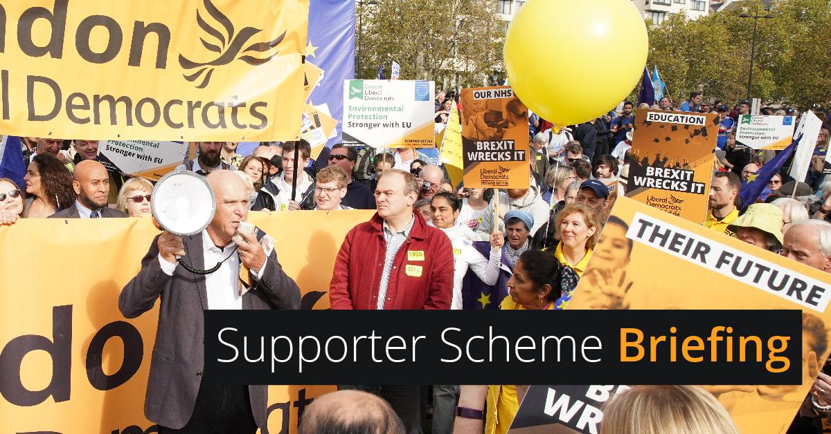Supporter scheme