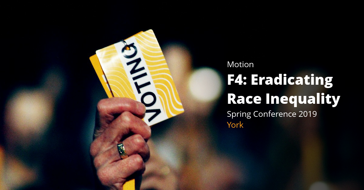 F4: Eradicating Race Inequality (Race Equality Policy Paper)