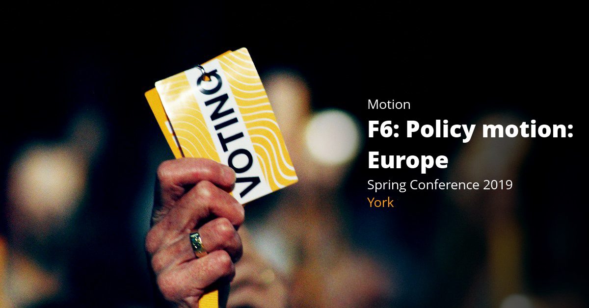 F6: Policy motion on Europe