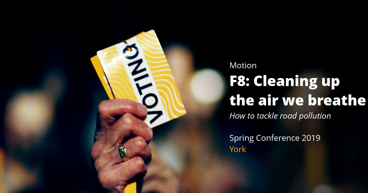 F8: Cleaning Up the Air We Breathe –  How to Tackle Road Pollution