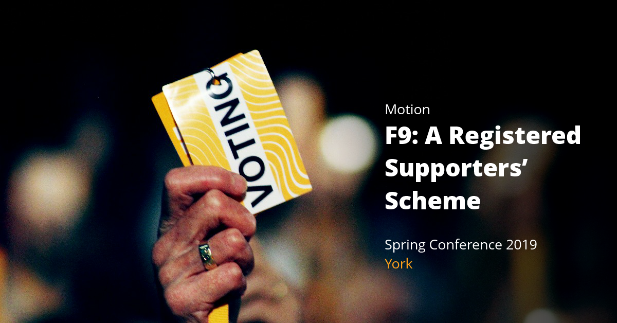F9: Business motion: A Registered Supporters' Scheme