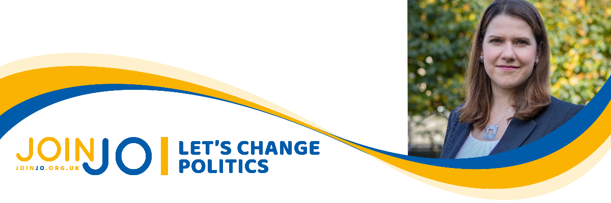 Jo Swinson's Campaign banner