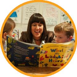 Jane reading to children