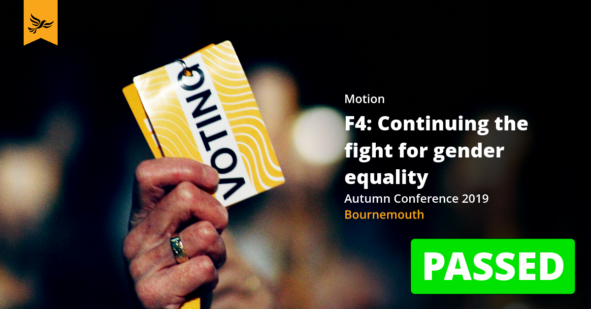 F4: Continuing the fight for gender equality