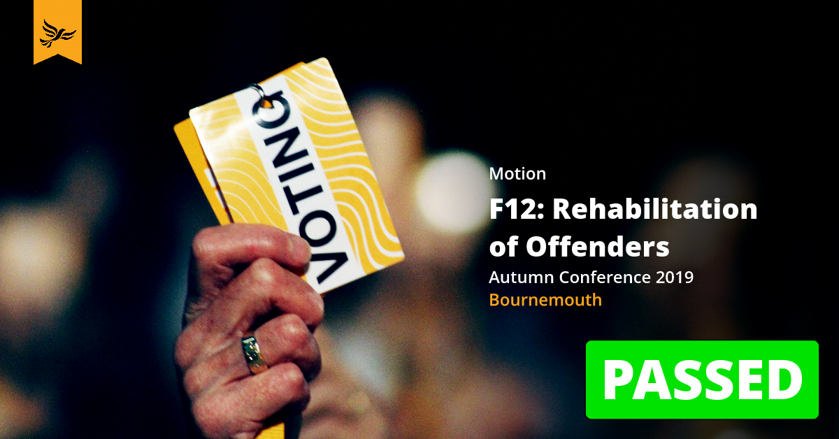 F12: Rehabilitation of Offenders